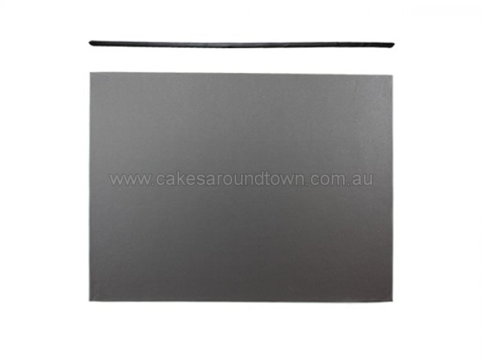 BLACK MDF Cake Board - 12 x 18 Rectangle