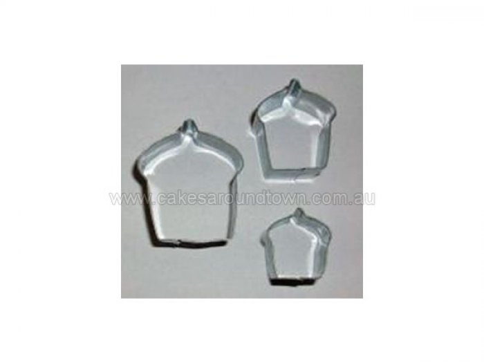 Cookie Cutter Set - Mini Cupcakes (3pc)