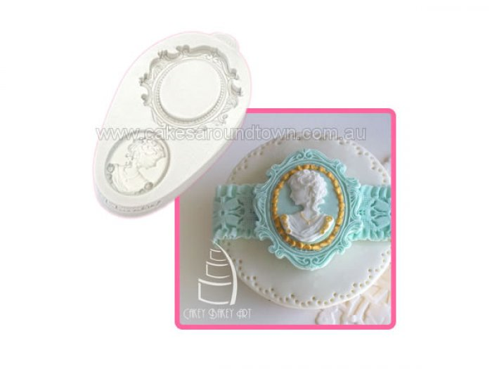 Katy Sue Design Mould - Oval Frame & Cameo 2