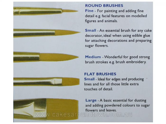 PME Craft Brushes Set of 5 - DISCONTINUED