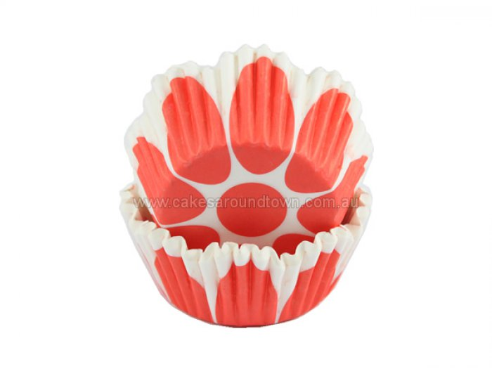 Red Tulip Shaped STANDARD Cupcake Case (40)