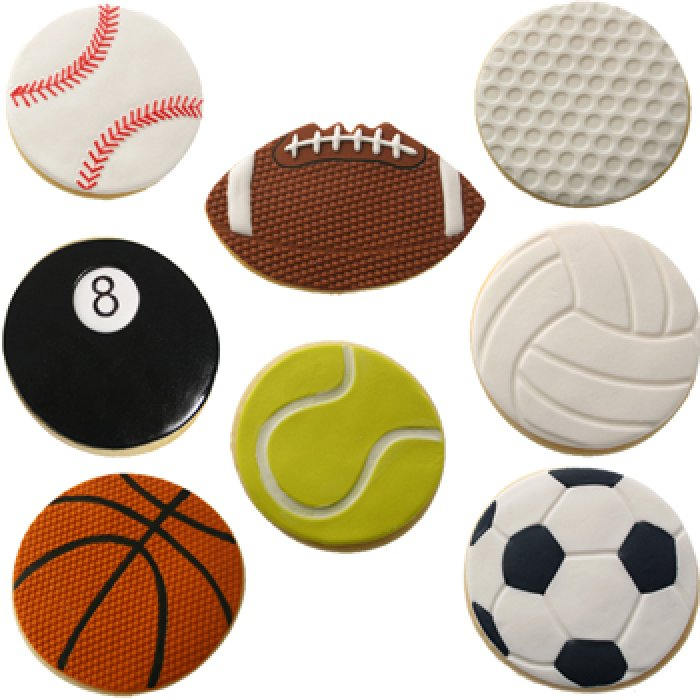 Cookie Cutter Texture Set - SPORTS BALLS
