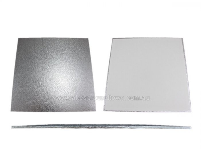 MDF SILVER Cake Board - 16 inch SQUARE - PICK UP FROM WAREHOUSE ONLY