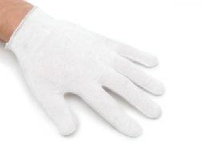 White Cotton Gloves LARGE size (1 pair)