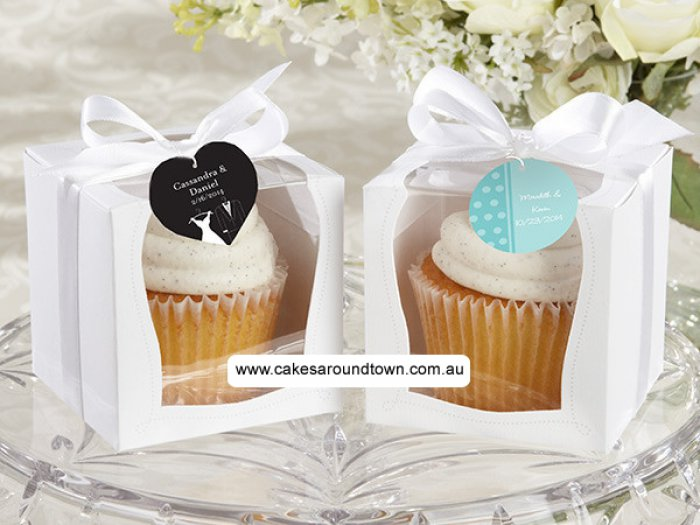 STANDARD Cupcake Box - 2 Side Window with Insert (Holds 1)