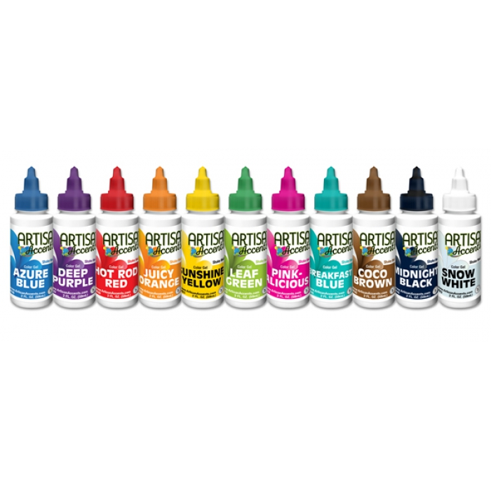 Artisan Accents Colour Gel - Pack of 11 (ea 59ml)