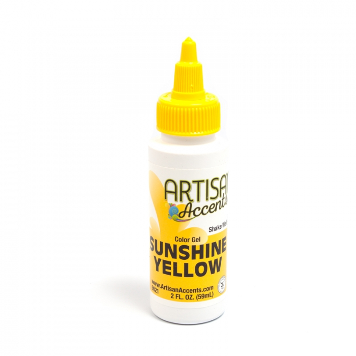 Artisan Accents Colour Gel - Sunshine Yellow 59ml (2FL)