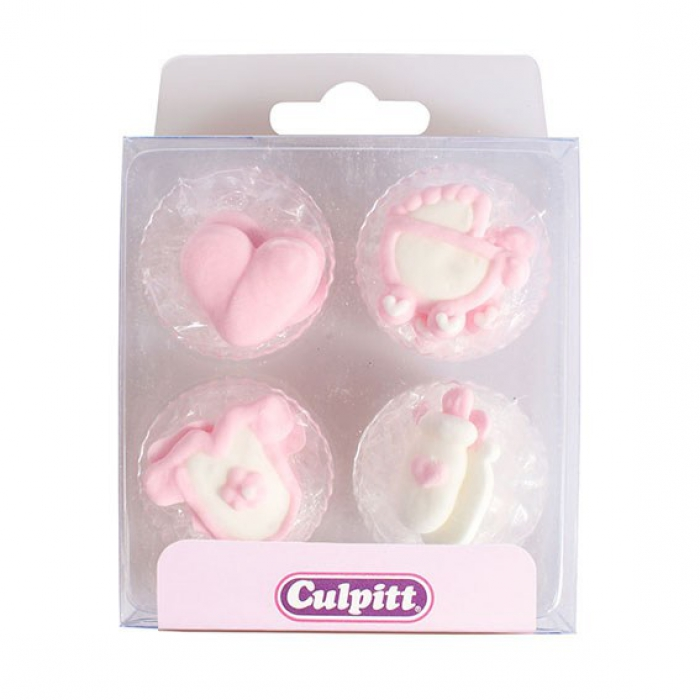 Baby Assortment Pink Sugar Decorations (12)