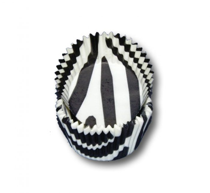 Zebra Print B & W Baking Cups Mini 30