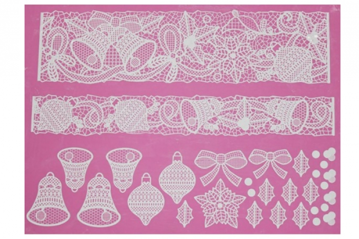 3D Cake Lace Mat - BELLS and BOWS
