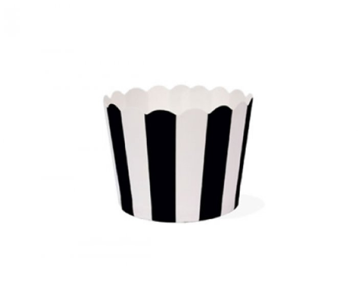 Black & White Stripe Baking Cups PACK OF 100