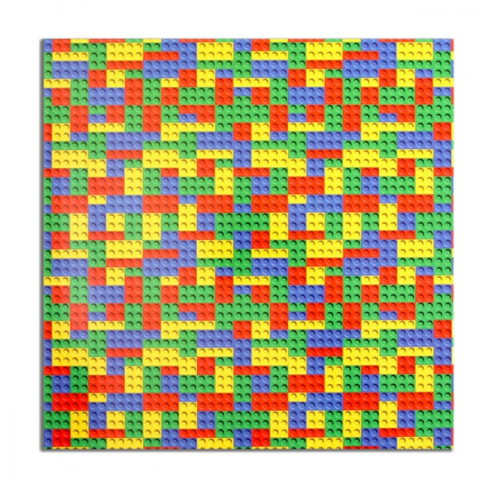 Building Block Pattern MDF Cake Board - 10 square