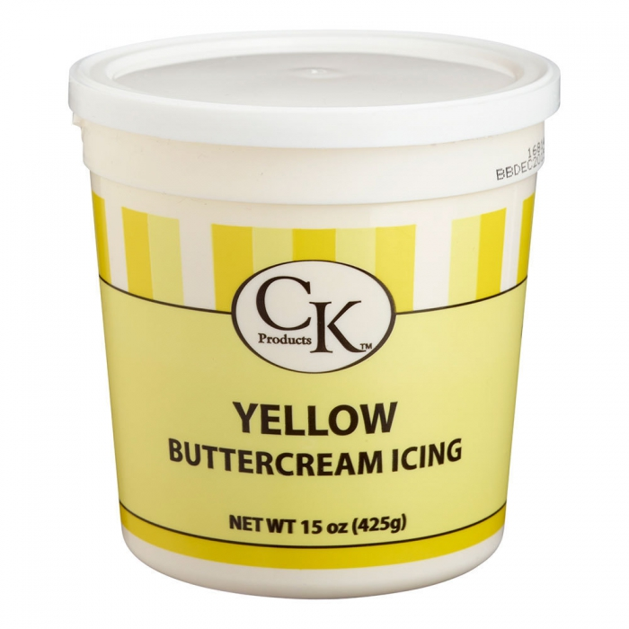 Buttercream Icing Ready-To-Use YELLOW 425g - DISCONTINUED