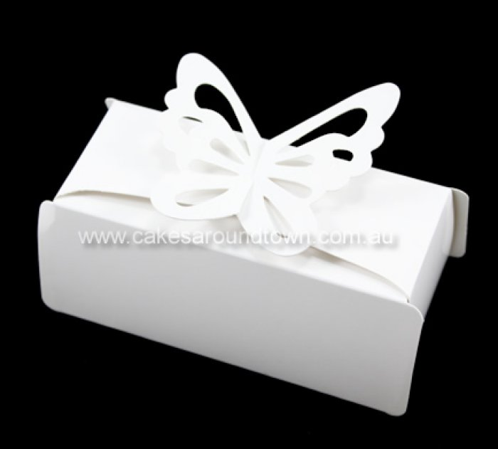 Butterfly Clasp Cake Slice Or Bonboniere Box Gloss 10 M7020 01