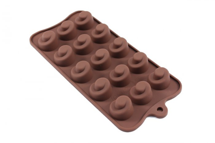 C Shaped Swirl Silicone Chocolate Mould
