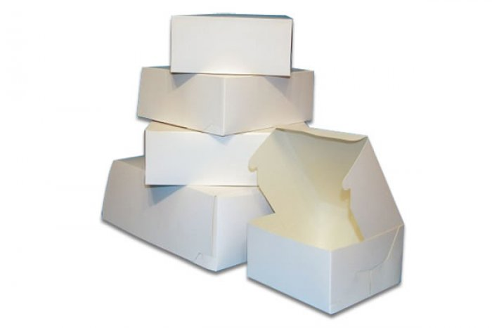 Cake Box - White 16 x 16 x 6  2 piece box