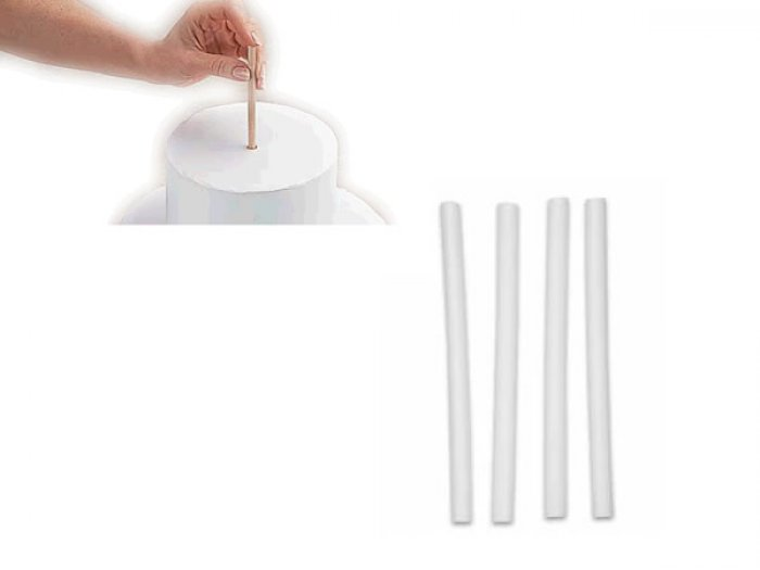 Cake Dowel Rod Supports 203mm CLEAR
