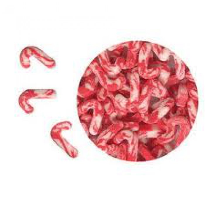 EDIBLE CONFETTI - Candy Canes (Peppermint Flavour) - 68g