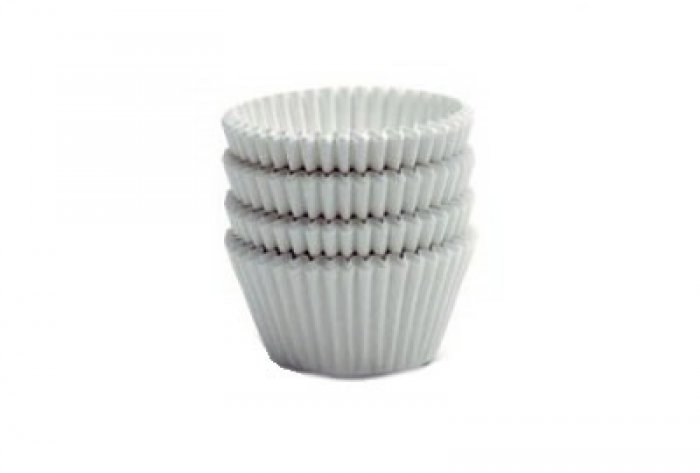 White MINI Cupcake Cases 40 pack (H:20mm)