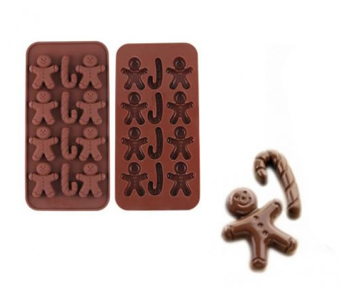 how to make gingerbread man in a long line