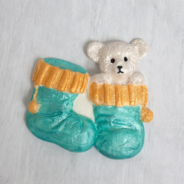 Christmas Bear in Stocking Silicone Mould
