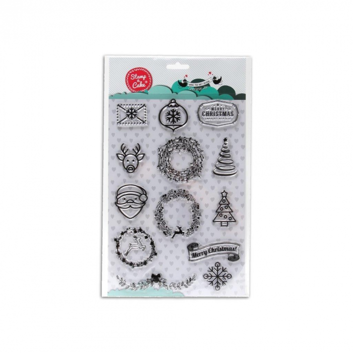 CHRISTMAS JOY Stamp - Stamp a Cake - DISCONTINUED