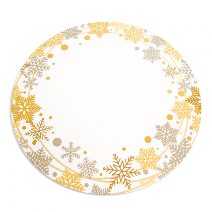 CHRISTMAS Pattern MDF cake board - 12 inch ROUND