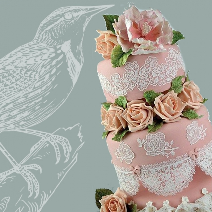 Cake Lace Mat - VINTAGE ROSES