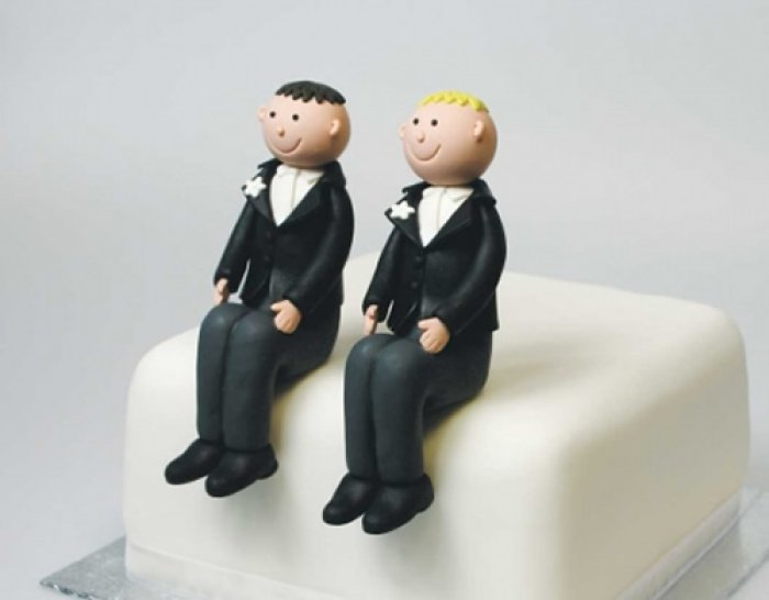 Claydough BLONDE Groom Seated Topper