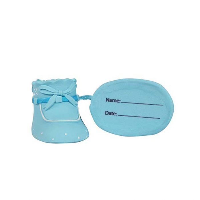 Claydough Pair of Booties in BLUE Cake Decoration