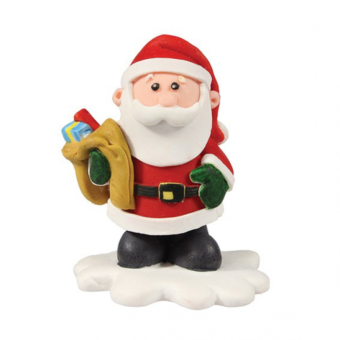 Claydough Santa with Toy Sack 50mm