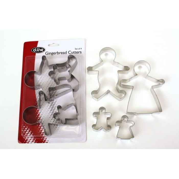 COOKIE CUTTER SET - Gingerbread Family Set of 4