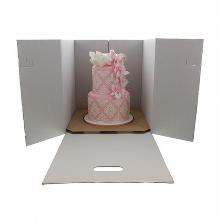 Corrugated Cake Carrier PACK OF 5 with inserts
