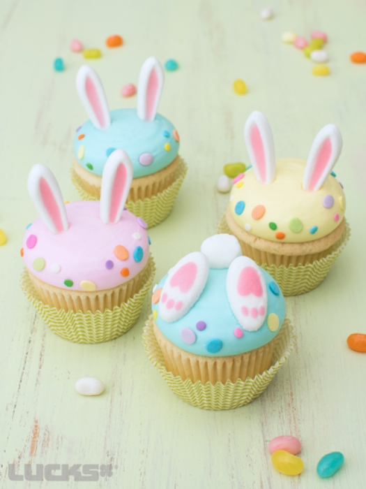 Cupcake Decorations Bunny Ears - 6 pairs  - Pick Up Only