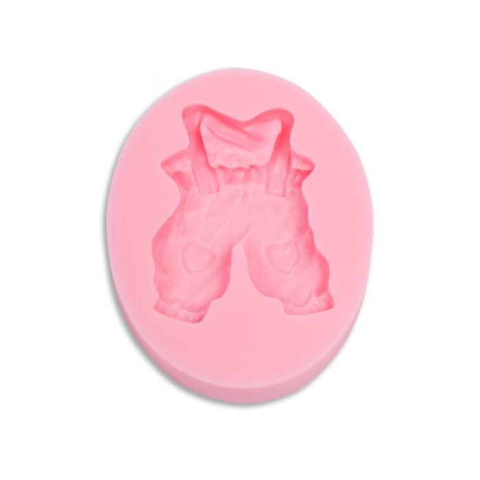 Cute Baby Dungarees Silicone Mould