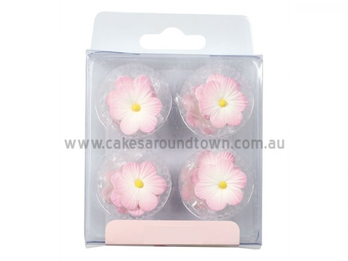 Pink Daisy Sugar Decorations (12)