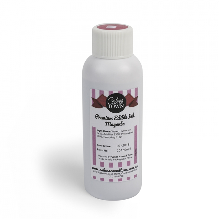 Edible Ink Refill Bottle 100ml - MAGENTA
