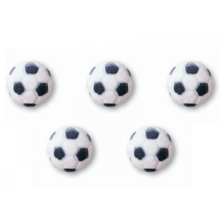 Soccer Ball Edible Sugar Decorations Pleasing Edible Sugar Decorations Soccer Balls 2D  Packs Of 12 Design Decoration