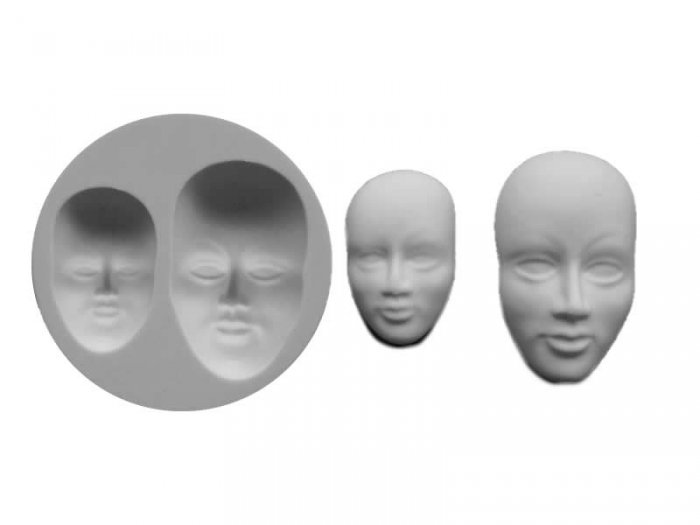 Faces Silicone Sugarcraft Mould