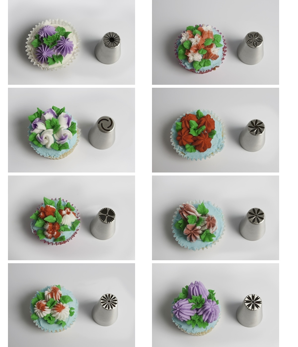 Fancy Flower Tip  Set of 8 - DISCONTINUED