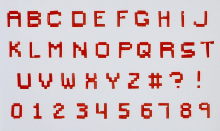 FMM Pixel Alphabet & Number Tappits Cutter - DISCONTINUED