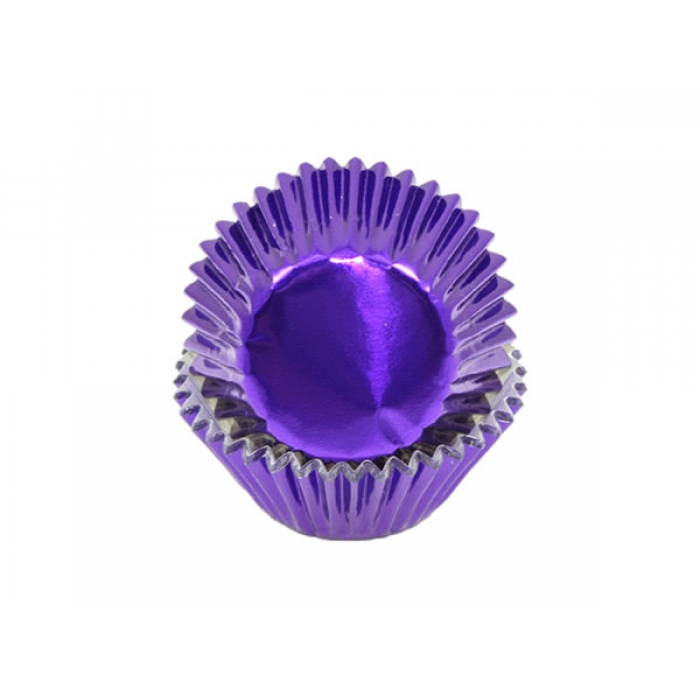 Foil MEDIUM cupcake cases - PURPLE (H:30mm) (30)