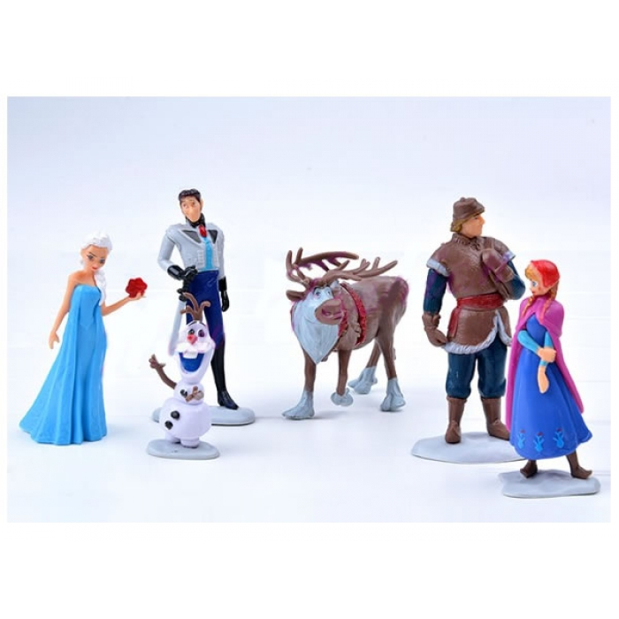 Frozen Character Figurine Cake Topper 6pc