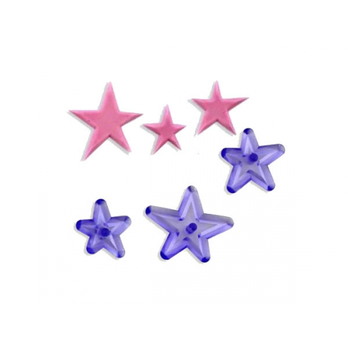Funky Star Cutters Set of 3 by JEM