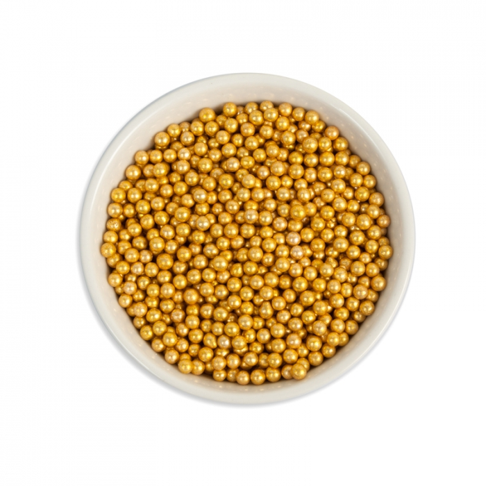 Gold 3-4mm Gold Dragees -59g Bottle