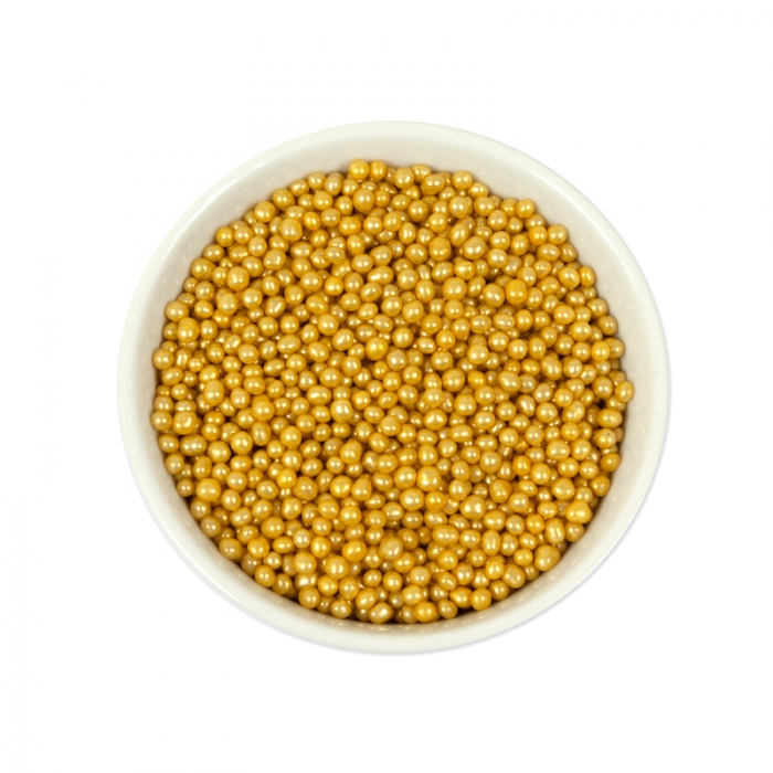 Sprinklz Gold Cachous Pearls  - 3mm 300g