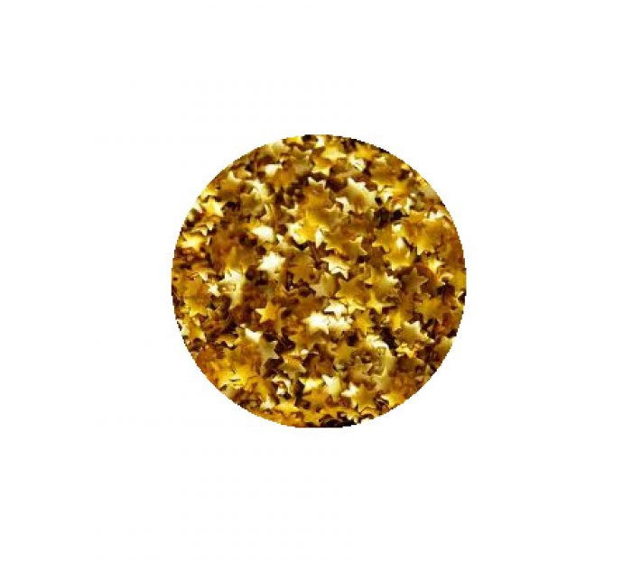 Edible Gold Star Shapes Shiny 4.5g