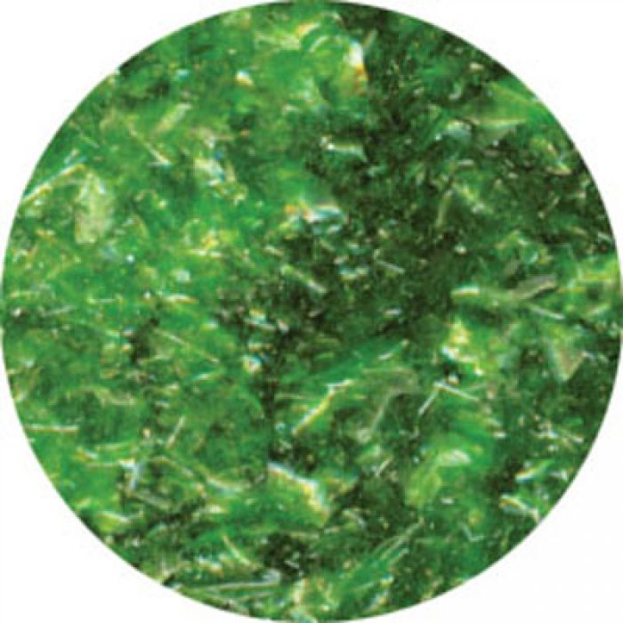 EDIBLE GLITTER FLAKES - Green - 28g Bottle