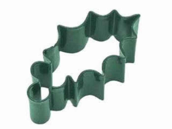 Cookie Cutter - Holly Leaf 3.25 GREEN Resin