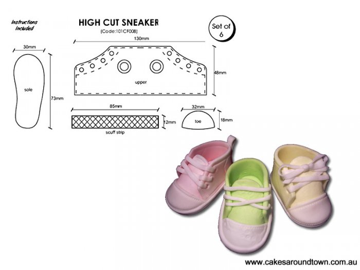 High Cut Sneaker - Set of 6